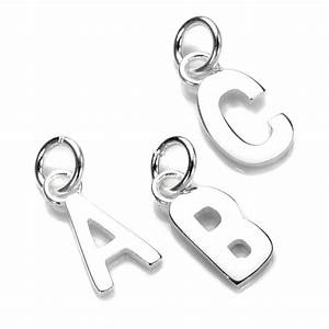 Small 925 sterling silver letter charms a z letters for Small silver letter charms