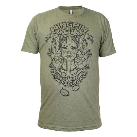 devil mens  shirt  ronnie hicks kingpin tattoo supply