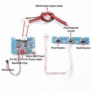 Bluetooth Audio Receiver Module Amplifier Board Wireless Stereo Hands