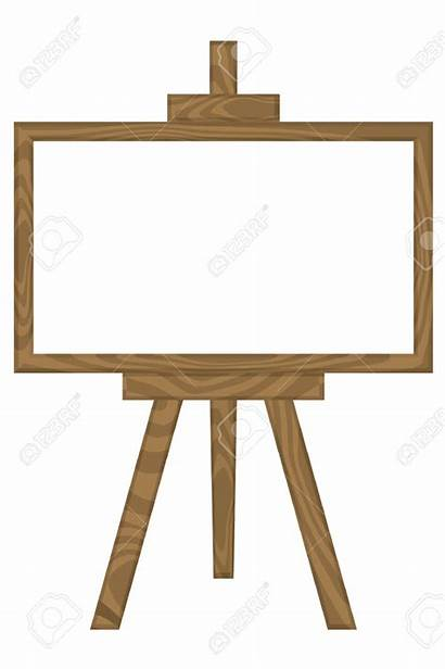 Easel Clipart Stand Board Clip Vector Clipartmag