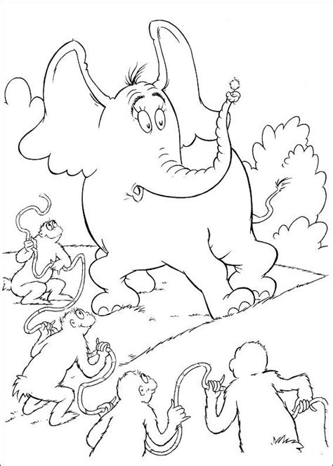 Grinch Kleurplaat by N 65 Coloring Pages Of Horton Dr Seuss