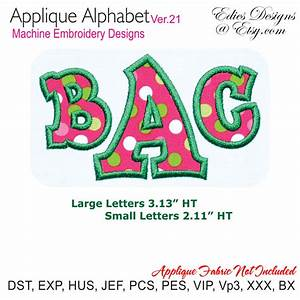 applique alphabet ver 21 machine embroidery designs With embroidery applique letters