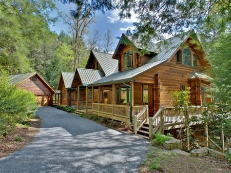 waterfront cabin rentals in creek lodge blue ridge cabin rentals