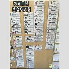 Math Vocabulary Wall  Mrs B's First Grade