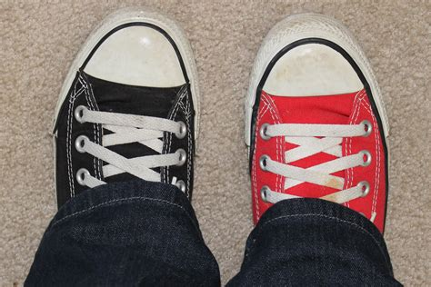 with two different color two different colored shoes day happy hayley