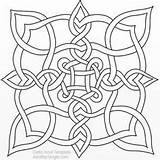 Celtic Coloring Knot Designs sketch template