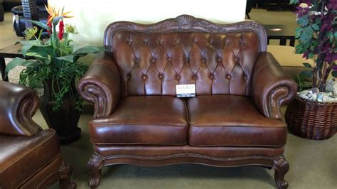 settee wood 500681 tri tone top grain leather sofa set with wood trim