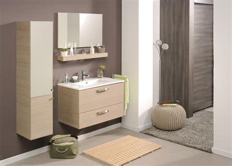 meuble de salle de bain meuble sous vasque tablette miroir 80cm vania miliboo