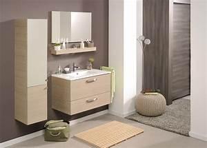 Meuble Salle De Bain Sous Vasque : meuble de salle de bain meuble sous vasque tablette miroir 80cm vania miliboo ~ Teatrodelosmanantiales.com Idées de Décoration