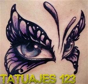 Ojos de mariposa Tatuajes 123