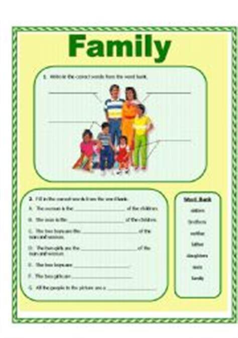 family esl worksheet  suethom