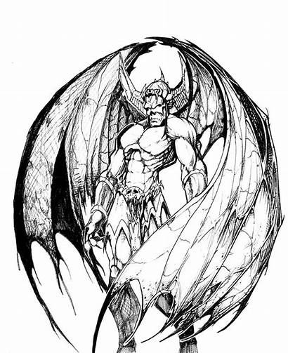 Demon Drawing Dragon Drawings Coloring Pages Pencil