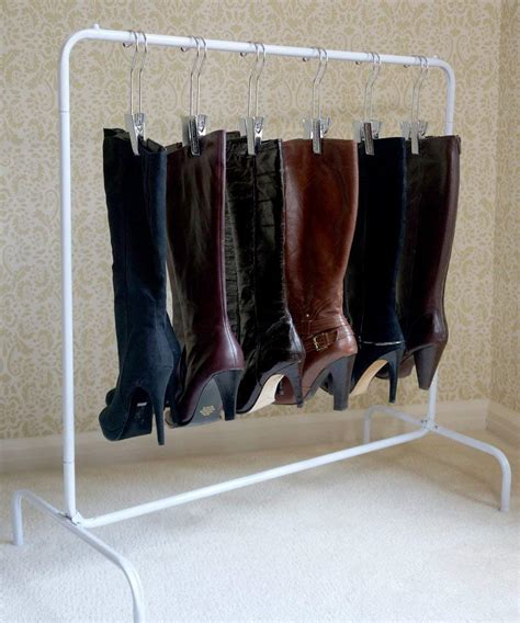 boot hangers for closet closet shoes boots organizer 6 silver hangers shoe storage