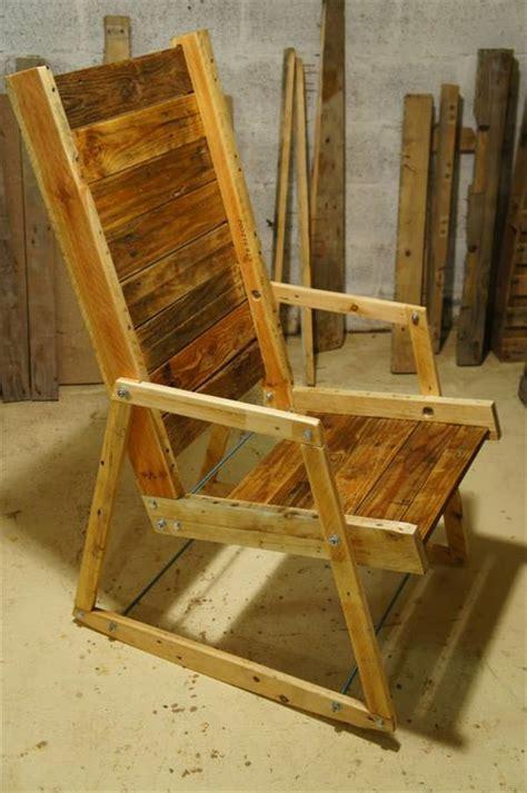 diy pallet wood rocking chair
