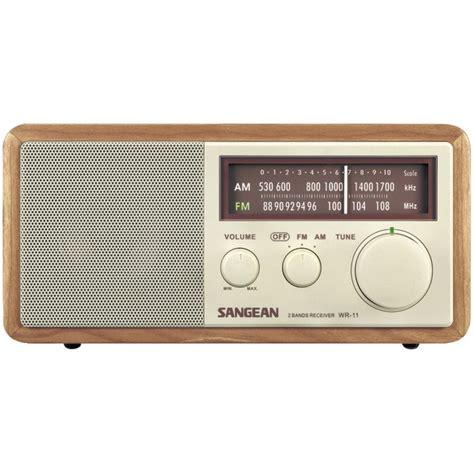desk radio cd player sangean wr11 wood cabinet am fm tabletop radio
