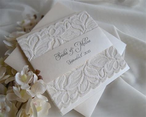 Wedding Invitation Lace Wedding Invitation Gold Wedding