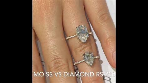 moissanite  diamond pear shape engagement rings youtube