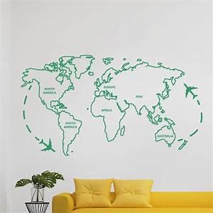 Carte Du Monde Sticker : sticker la carte du monde ~ Dode.kayakingforconservation.com Idées de Décoration