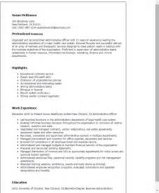 resume for administrative officer position professional administrative officer templates to showcase your talent myperfectresume