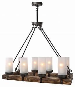 LightingWorld - Industrial Style Wood Chandeliers For