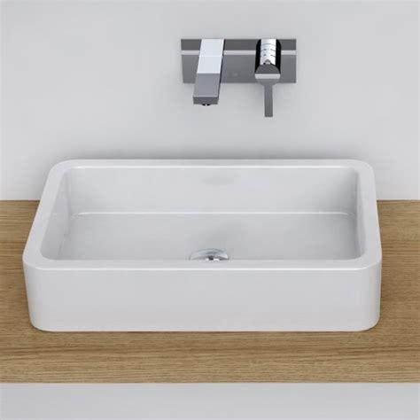 vasque a poser vasque 224 poser rectangulaire 58x36 cm c 233 ramique