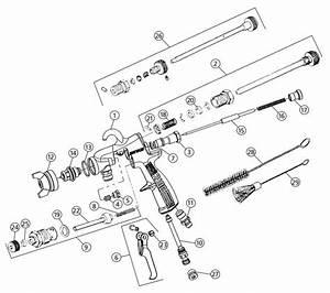 2100 Spray Gun Parts Breakdown