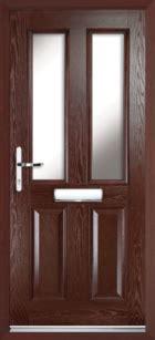 2 Panel 2 Glazed Composite Door Rosewood