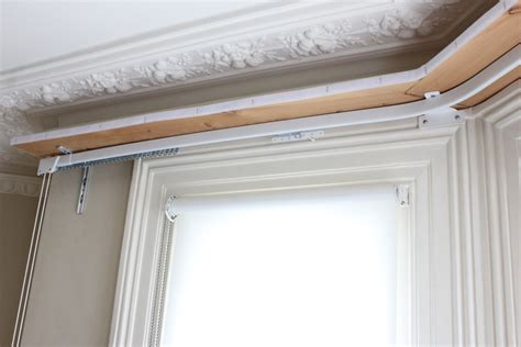 curtain track bay window new heavy duty curtain rail fitted on a pelmet board for a