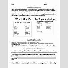 Tone And Mood Worksheet By Msb  Teachers Pay Teachers