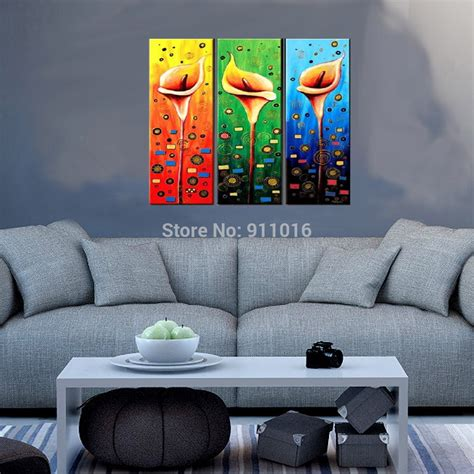 Colourful Flowers Painting Hand Painted Wall Abstract Home