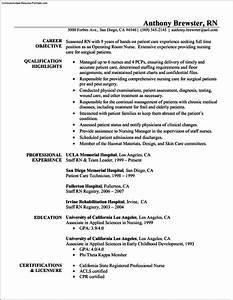 registered nurse resume templates free free samples With free registered nurse resume templates