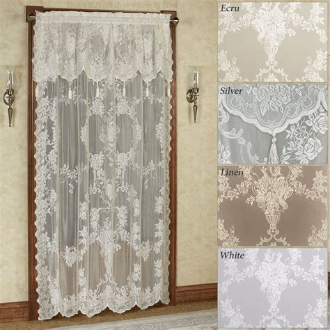wrap around curtain rod easy style lace curtain panel with attached valance
