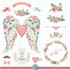 wedding clipart packquotwedding flora wingquotclip artvintage With wedding invitations with flowers vintage frame