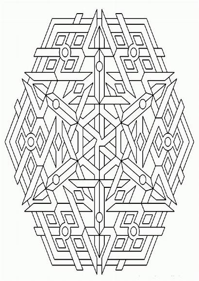 Coloring Geometric Pages Geometry Sacred Shape Printable