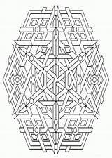 Coloring Geometric Pages Geometry Sacred Shape Printable Sheets Popular Mandala Flower Heart sketch template