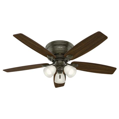 hunter  profile  led ceiling fan  menards