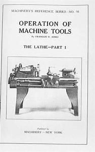 Operation Of Machine Tools Metal Lathe How