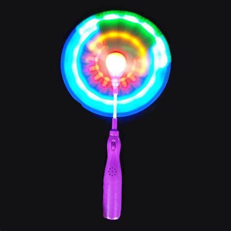 led light up presents flashing light up led rainbow spinning windmill glows toy