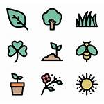 Clipart Curved Icon Leaf Icons Flower Spring