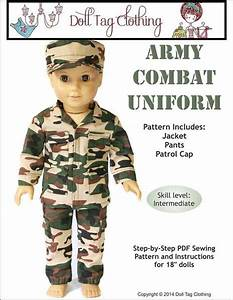 Army Combat Uniform 18 inch Doll Clothes PDF Pattern ...