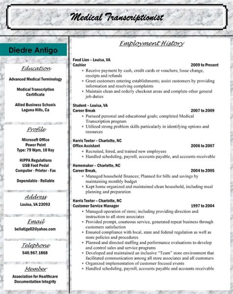 resume objective exles for billing and coding 28 images