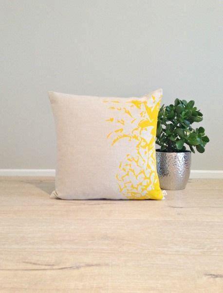 cushion cover pillow cover throw pillow yellow pineapple linen cotton xcm  agnesyou