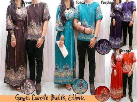 model baju gamis batik couple sarimbit cantik tas cewek