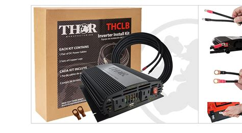 thor th750 s kit1 750 watt kit with inverter cables inverters r us