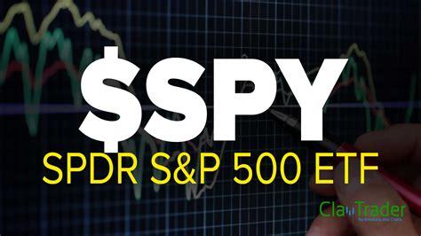 spdr sp  etf spy stock chart technical analysis