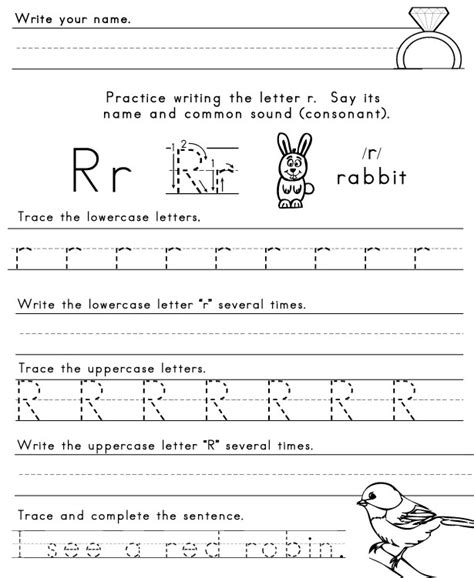 letter r worksheets for kindergarten letter r worksheet the letter r 22799