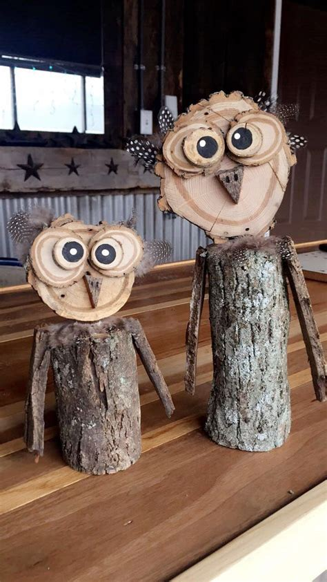 homemade wooden owls   started selling