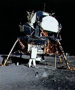 Image of the Apollo 11 Lunar Module / EASEP spacecraft