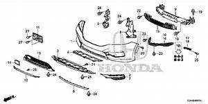 Front Bumper  2  2016 Honda Accord Sedan Parts Lx 6 Speed