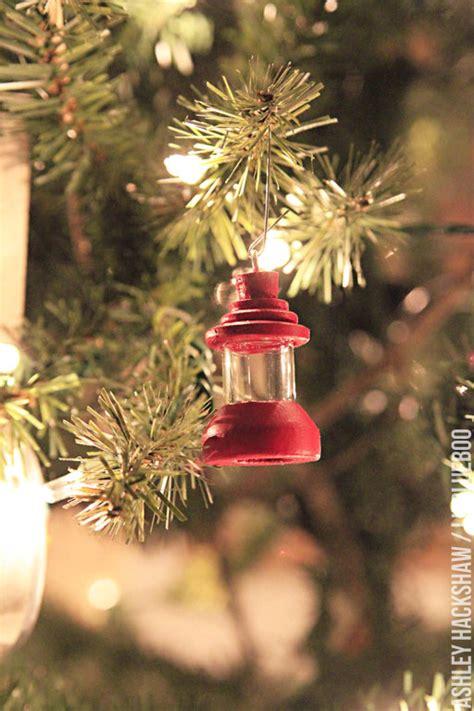 diy ornament vintage camping lantern